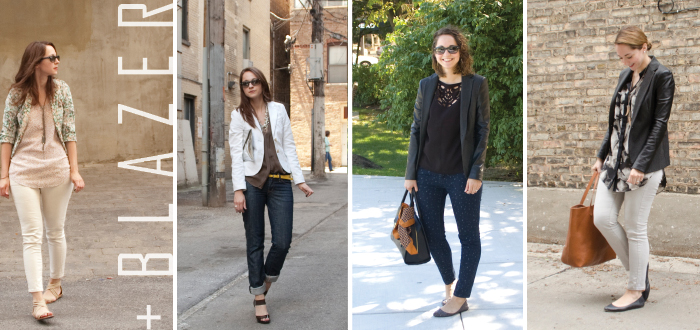 jeans to work: with a blazer
