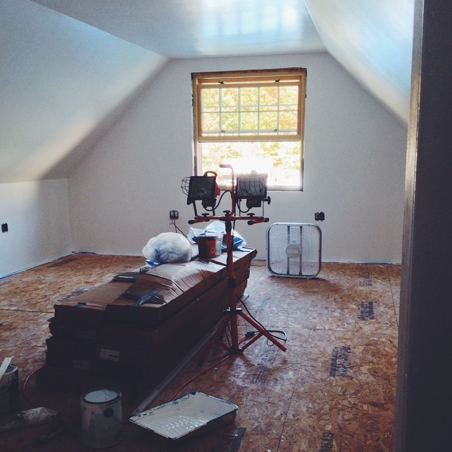 progress #diy #renovations #farmhouse #ultrawhite