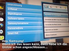 Intelligente Hilfesysteme in Samsung-Fernsehern