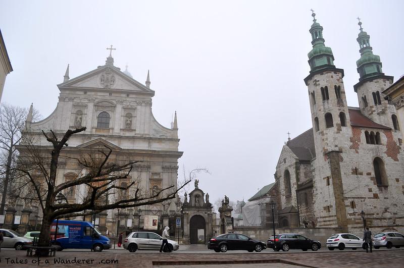KRAKÓW - Plac św. Marii Magdaleny - Kościół Świętych Apostołów Piotra i Pawła / Kościół św. Andrzeja