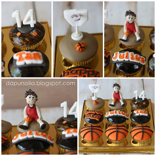 Cupcake Set with Basketball Theme for Julius Tan