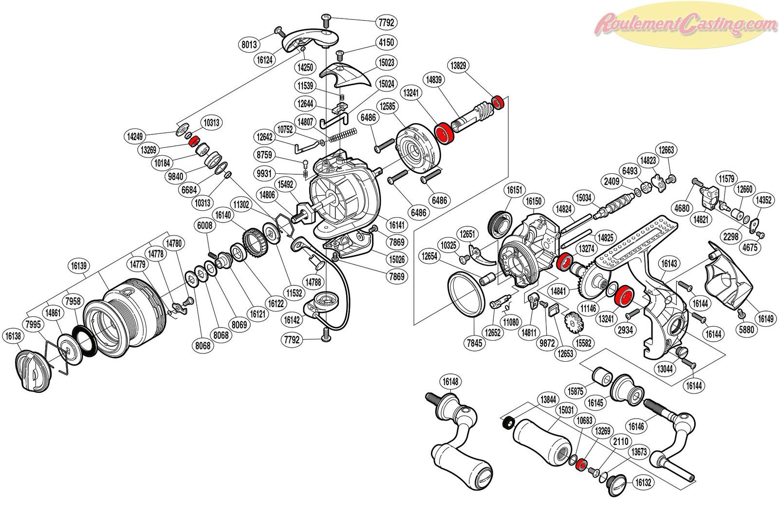 Schéma Shimano Stradic CI4+ 1000FA