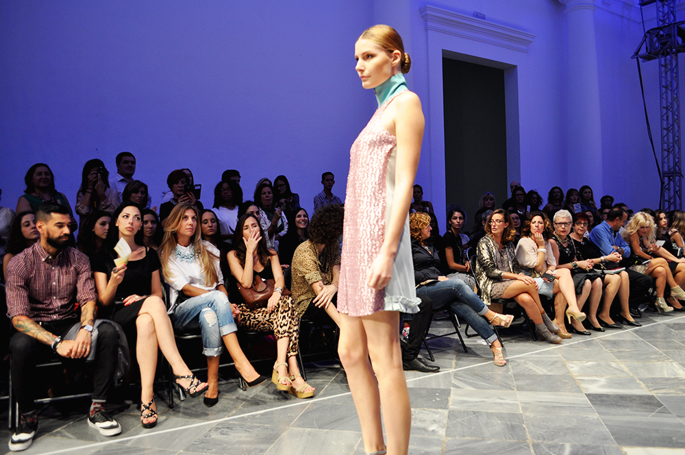 something fashion blog fblogger alexis carballosa, fashion month VFW 17 valencia fashion week, best styling award spring/summer 2015, emerging designers david blay miriam garcia elegant dresses flowy pastel colors museo del carmen