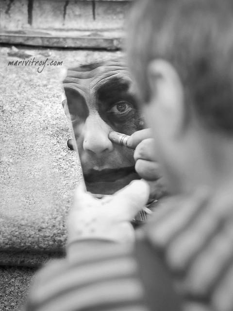 En el espejo..