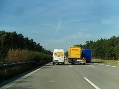 Auf der A2 in Brandenburg ...