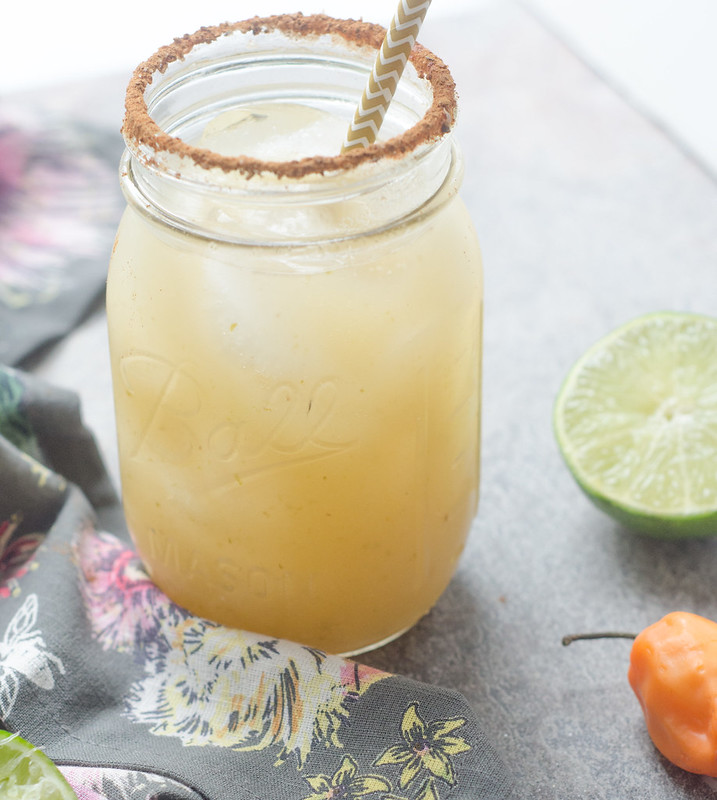 Apple-Habanero Margaritas