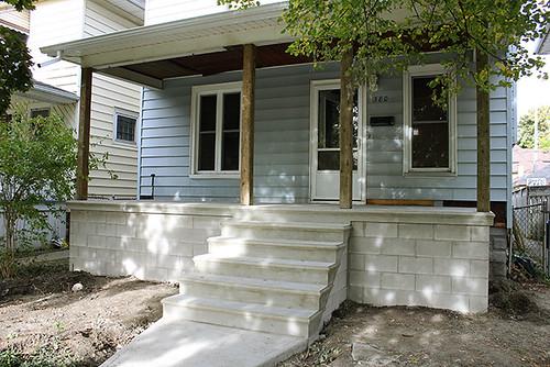 new porch in progress