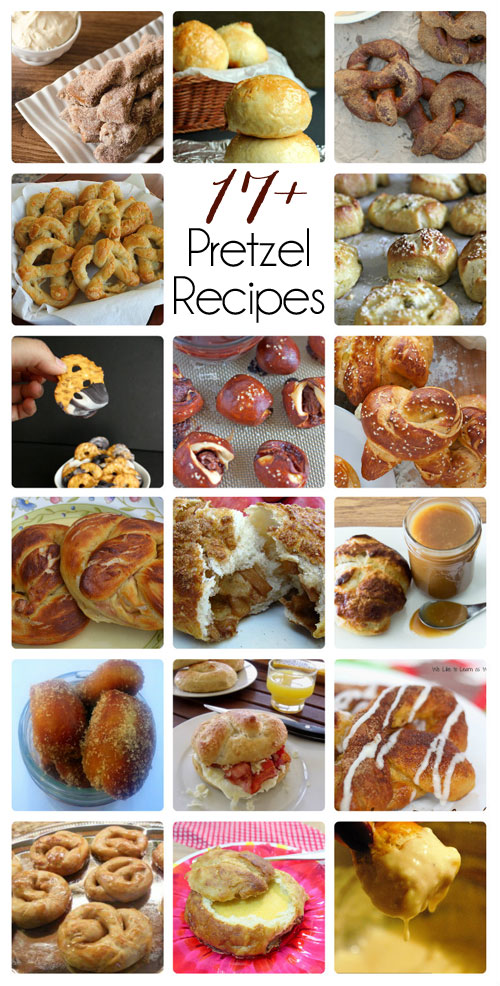 17 pretzel recipes round up