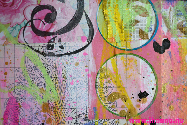 Art Journal detail: Circles