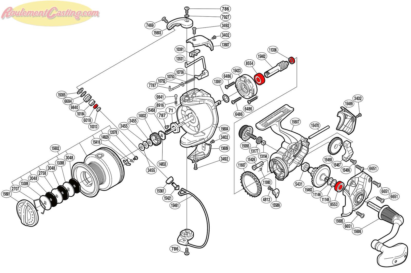 Schéma Shimano Symetre 4000FL