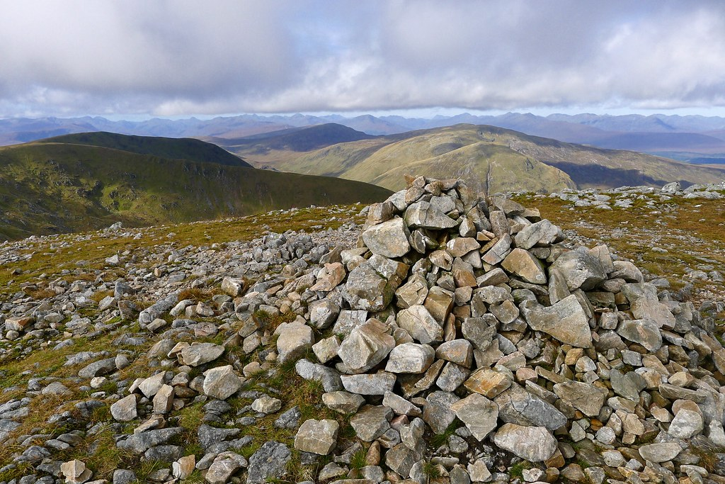 Summit cairn of Meall na Teanga