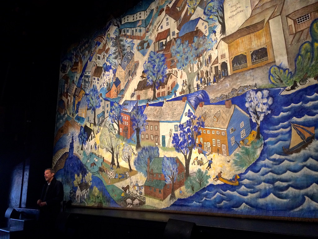 Fire Curtain at the Bucks County Playhouse - Painted by Julia Child's Brother In Law!