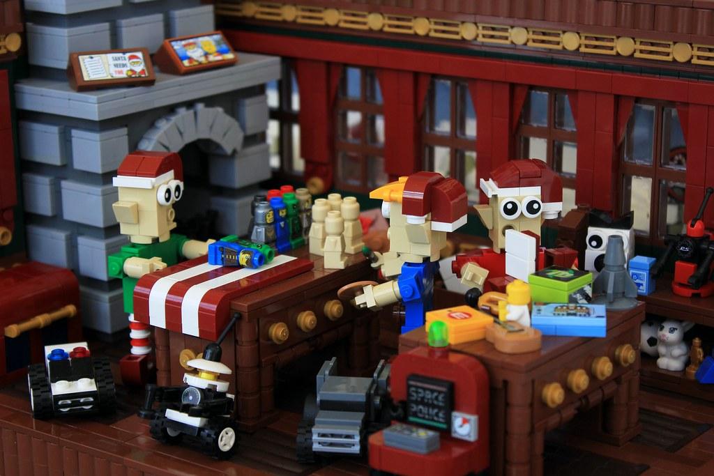 Elves' Workshop (custom built Lego model)