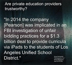 Quotation: Are private education providers trustworthy?