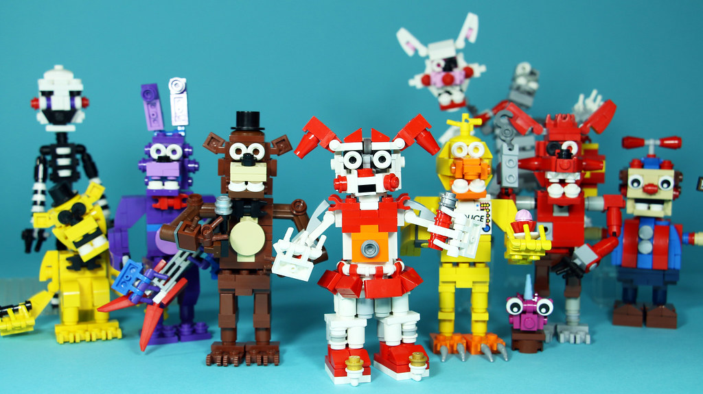 LEGO FNAF Animatronics (custom built Lego model)