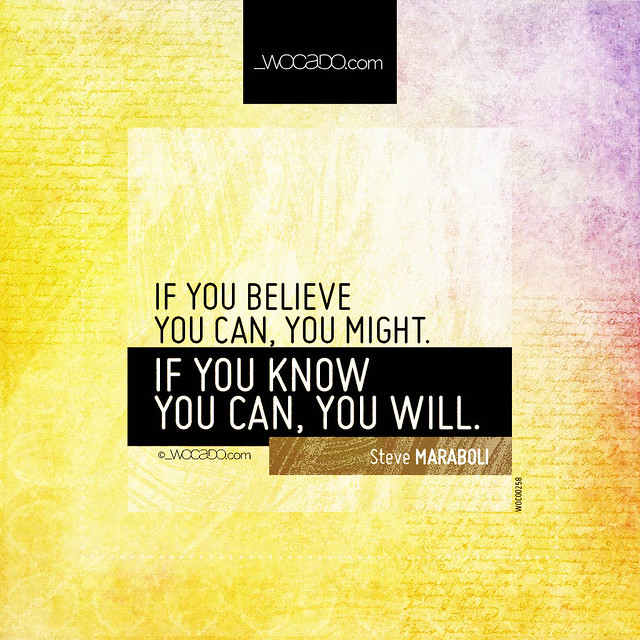 If you believe you can, you might by WOCADO.com