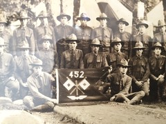 Yard-Wide Photo of 452nd Aero Squadron, Spruce Soldiers