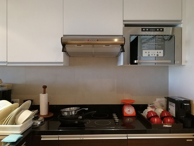 <p>キッチンの調理器具</p>