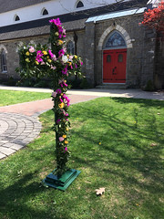 Flowered Cross Easter Morning