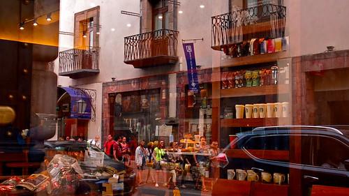 Puebla street reflections