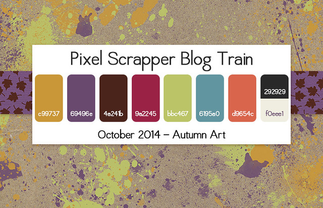 Pixel Scrapper Blog Train - Autumn Art