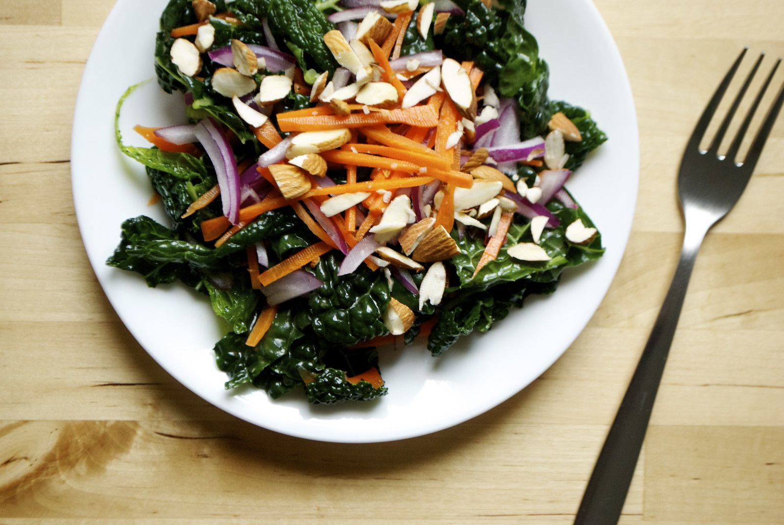 Kale Carrot Salad with Orange Vinaigrette | Kitchen in the Hills