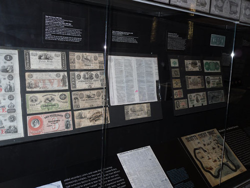 Museum of American Finance banknote display