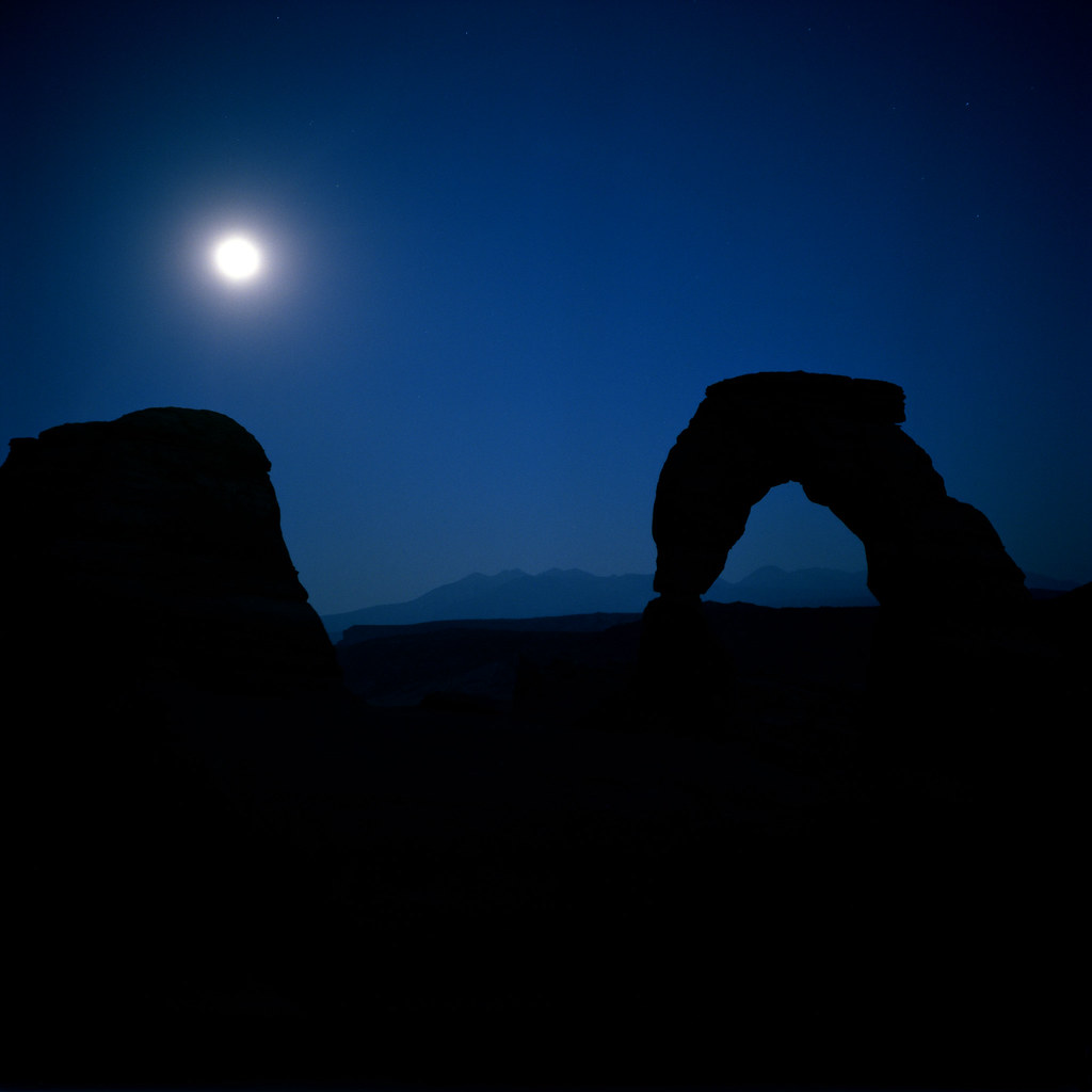 Full Moon, Delicate Arch, Arches National Park, Utah, 2014