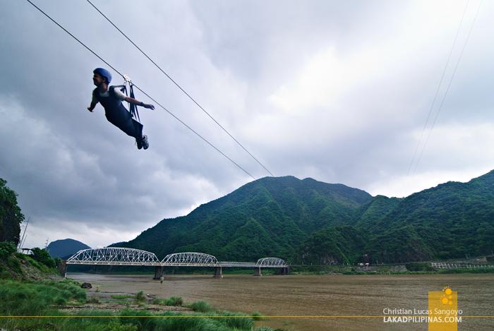 Zip Line Across the Old Quirino Bridge in Ilocos Sur