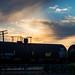 Train at Sunset