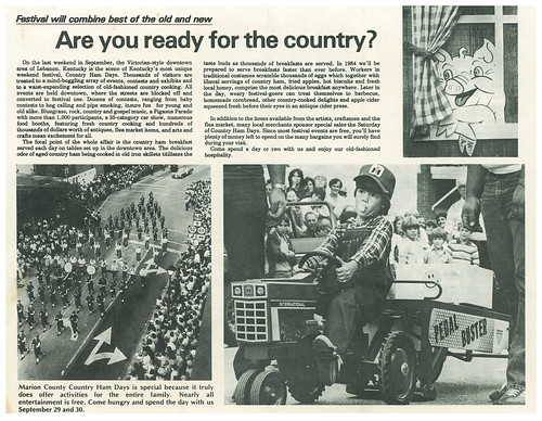 Marion County Country Ham Days 1984 Brochure, Interior