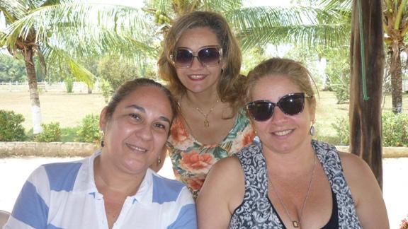 Cicita Adade, Mylene Serruya e Jalva Rebelo