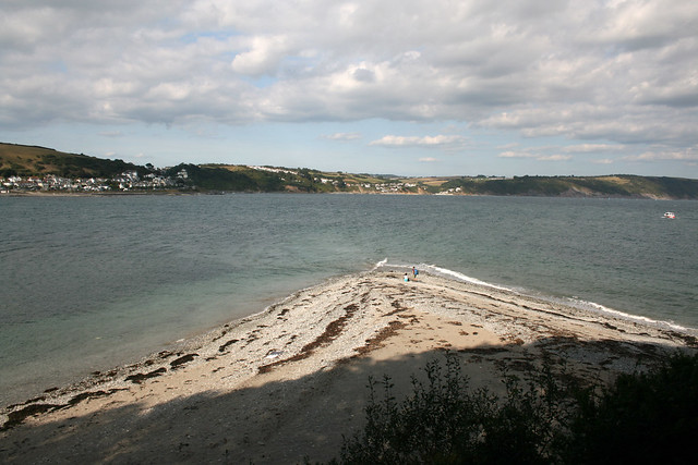 The landing beach at Looe Island