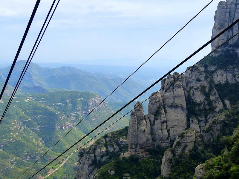 funicolar y montaña, Montserrat