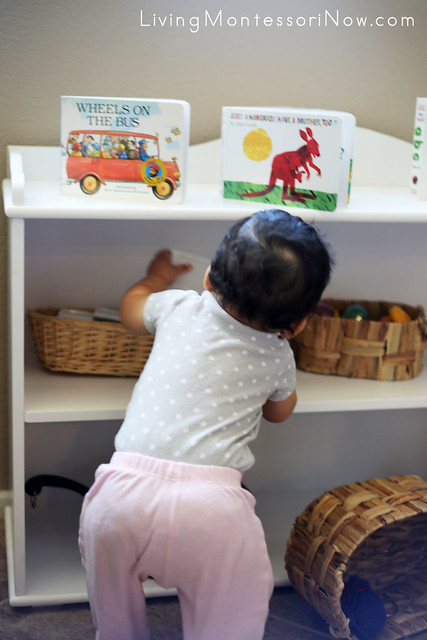 Practice Standing and Reaching for Objects on Shelves