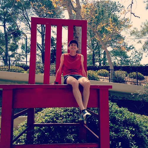 Called on to the big red chair... Or. Maybe it was just calling?