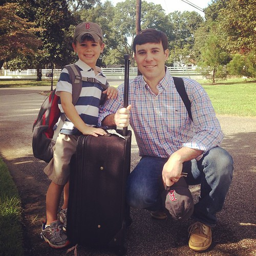 Half of my heart just left on a father/son trip. Thrilled for the 2 of them. #bostonbound @daviddspence