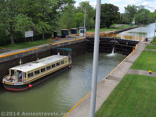 A packet boat in Lock 32. Gotta love that observation platform! Erie Canal Path, Rochester, New York.