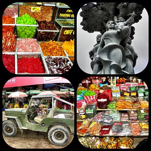 Random. Market. Da Lat. Vietnam. sweets. car. jeep. Army keep. coffee. statue. Travel.