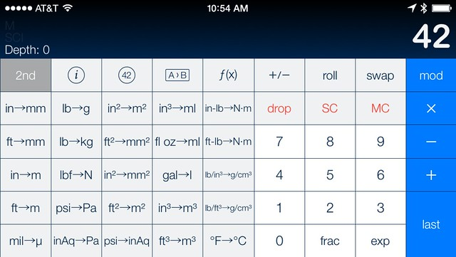 PCalc 2nd conversion layout