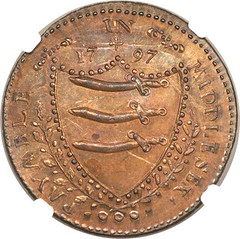 Middlesex. Swan Penny Token 1797 reverse
