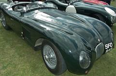 race car, automobile, jaguar xk120, vehicle, antique car, classic car, vintage car, land vehicle, sports car,