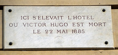 Photo of Victor Hugo stone plaque