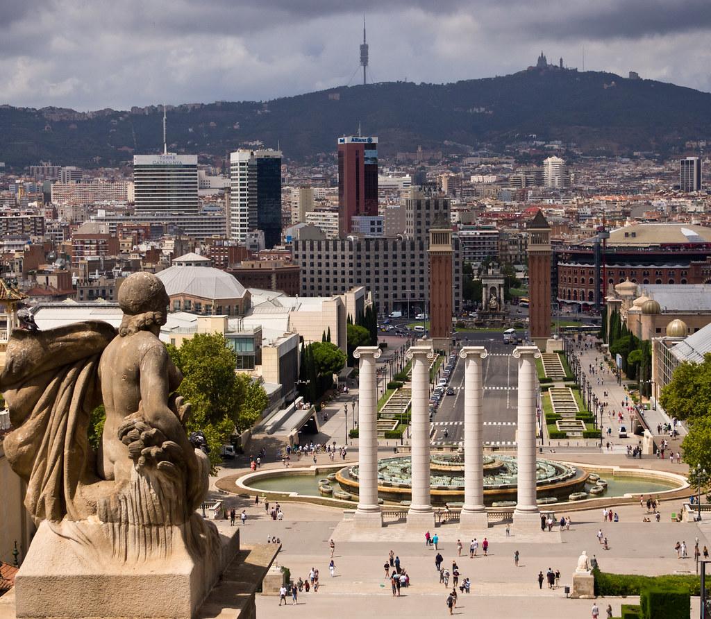 View from Museu Nacional d'Art de Catalunya