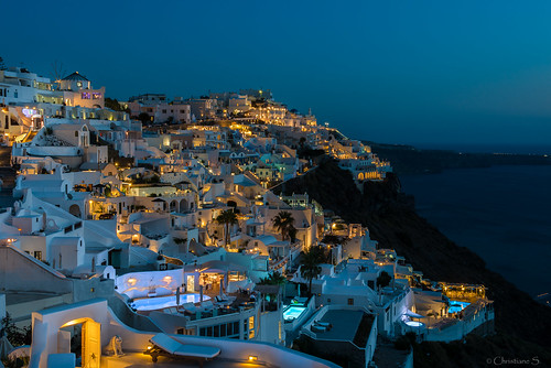 longexposure sunset island santorini greece bluehour nikonfirostefani