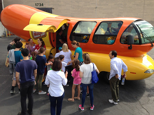 WienerMobile at L.A. Food Bank for family day