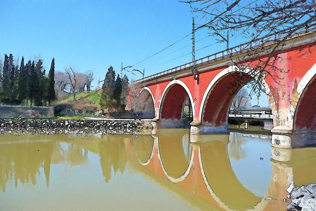 Puente de los Franceses sobre el río Manzanares
