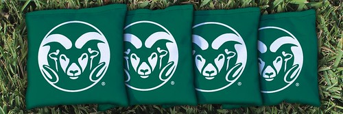 COLORADO STATE RAMS GREEN CORNHOLE BAGS