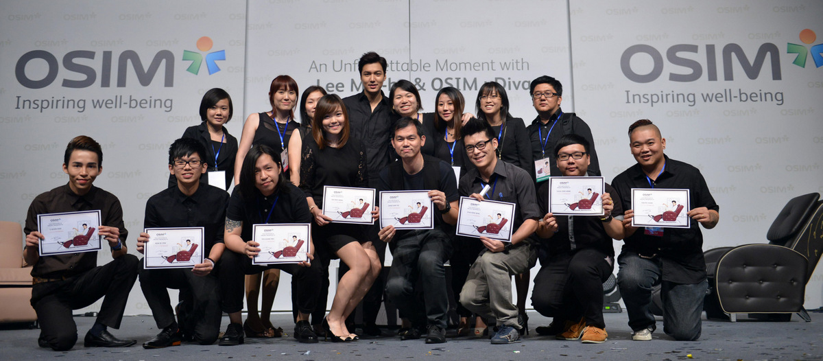 OSIM Team Group Photo with Lee Min-ho