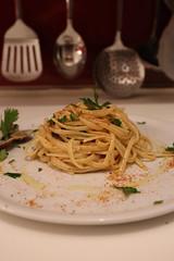 Tagliolini with shell and bottarga